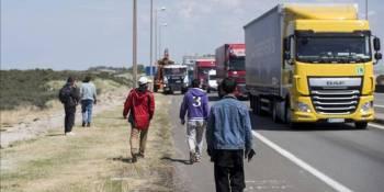Calais, Normandía, asociación, inglesa, RHA, Francia, camioneros,