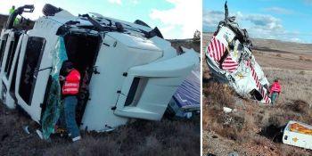 camionero, herido, colisionar, furgoneta, mantenimiento, A-12,