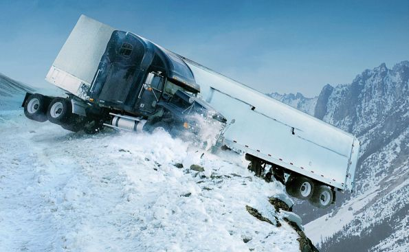 21 consejos para conducir camiones y vehículos pesados con hielo y nieve