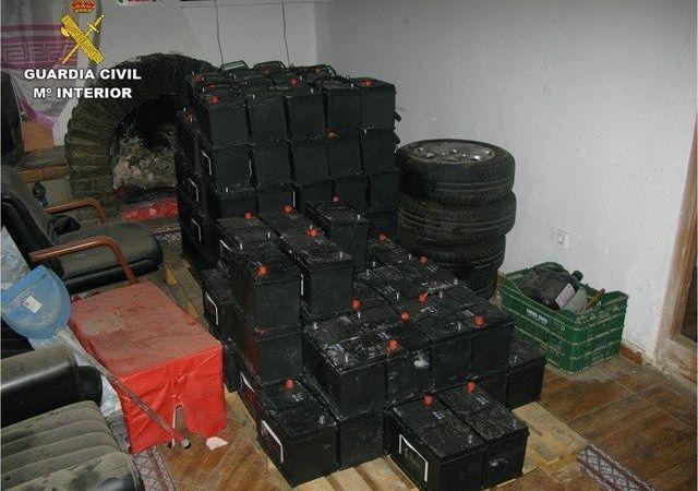 detenido, robo, camión, baterías,