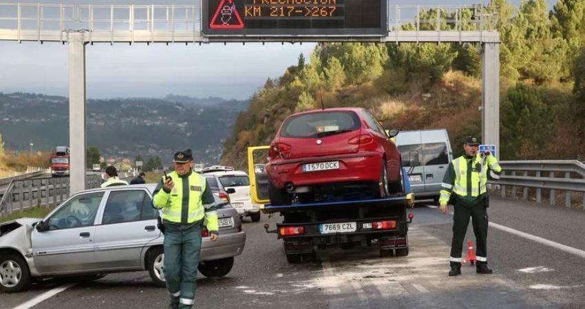 camión, vertido, gasoil, autovía, accidentes,
