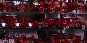Bombero, ruso, muestra, colección, impresionante, camiones,