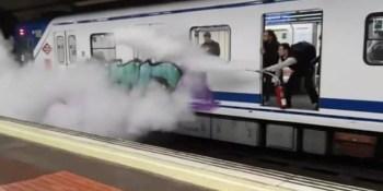 grafiteros, Metro, Madrid, extintor, sociedad,