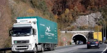 obras, Túnel, Belate, trabajos, adecuados, seguridad, camiones, desvíos,