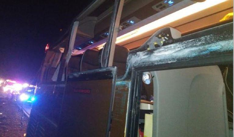heridos, autobús, camión, doce, chocar, A-3,