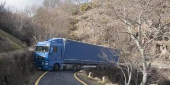 camionero, polaco, atascado, pista, Laza, GPS,
