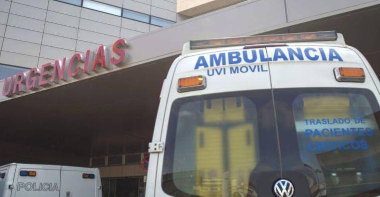 camionero, UVI, herido, caída, camión,