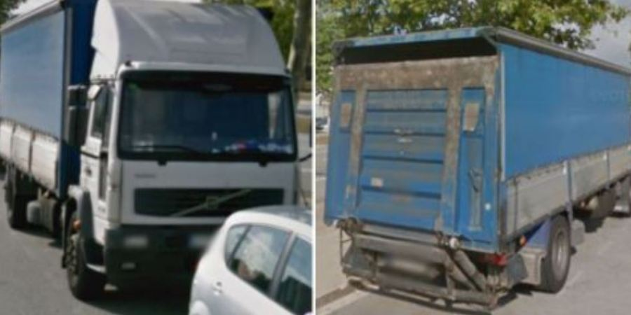 localizado, camión, robado,