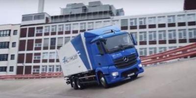 eActros, primer, camión, eléctrico, Mercedes Benz,