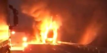 fallece, camionero, atropellado, A-52, incendio, camión,