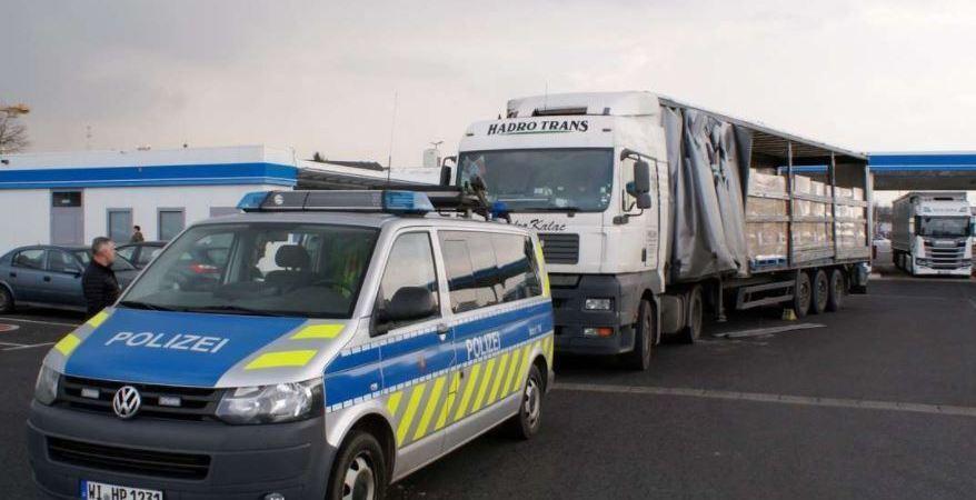 camionero, detenido, camión, inmovilizado