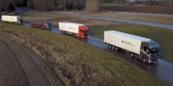 Scania, platooning, Ahola Transport, juntos, empresas, autónoma,