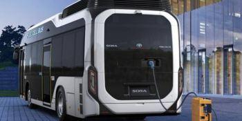 primer, autobús, Sora, pila, combustible, hidrógeno,