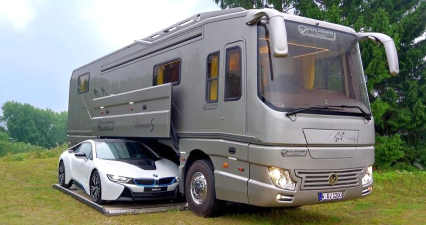 garaje, coches, interior, caravana, lujosa, mundo,