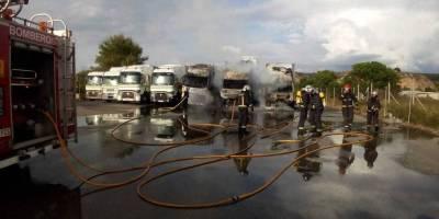 arden, camiones, instalaciones, Cincaporc, Fraga,