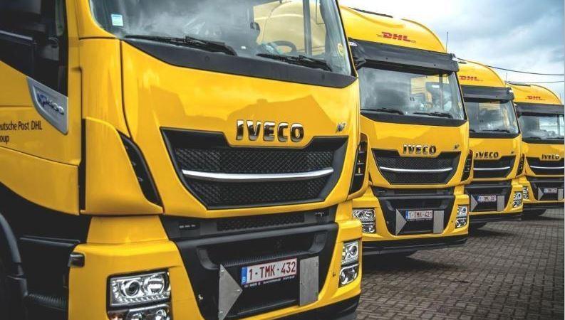 DHL, envíos, larga, distancia, camiones, gas natural,