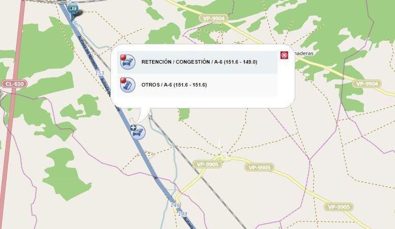 A-6, cortada, tráfico, vuelco, camión, Medina del Campo,