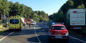 Cadreita, fallecido, persona, colisión, camión, turismo, N-121,