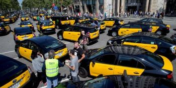taxistas, Barcelona, huelga, indefinida, movilización,