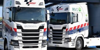 Scania, proveedor, camiones, sostenibles, motoGP,