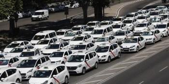 taxistas, Madrid, corte, Castellana, reunión, Ministerio Fomento,