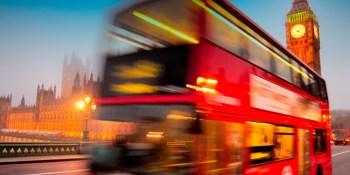 autobuses, míticos, Londres, pisos, eléctricos,