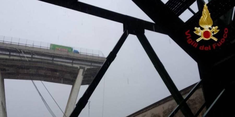puente, derribado, viaducto, Génova, Italia,