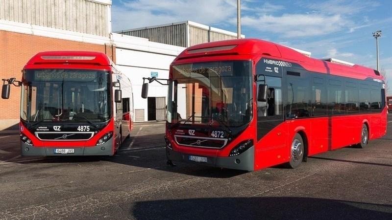 urbanos, Zaragoza, autobuses, híbridos, flota,