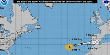huracán Leslie, trayectoria, España, Península, noche, meteorología, sociedad, actualidad, nacional,
