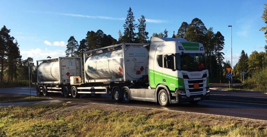 Scania, primer, camión, bioetanol, carretera,