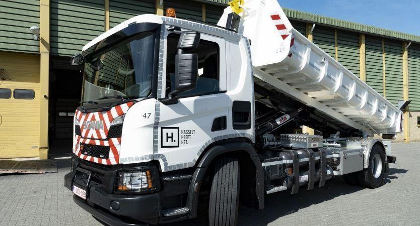 Scania, entrega, camión, XT, gas, Bélgica,