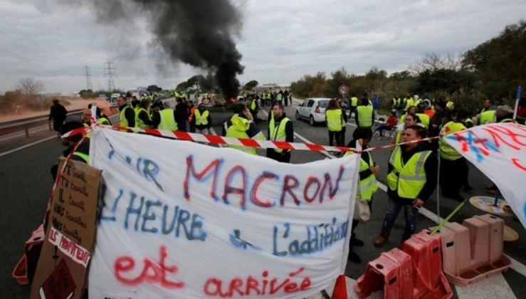 chalecos amarillos, protestas, Macron, camioneros, franceses, precios, combustibles, alza,