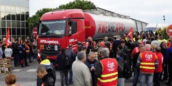 CGT, bloqueo, refinerías, Francia, enero,