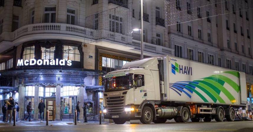Havi logistics, McDonald, camiones, empresa, actualidad, fabricantes del sector, logística y almacenaje, reparto, vehículos, gas,