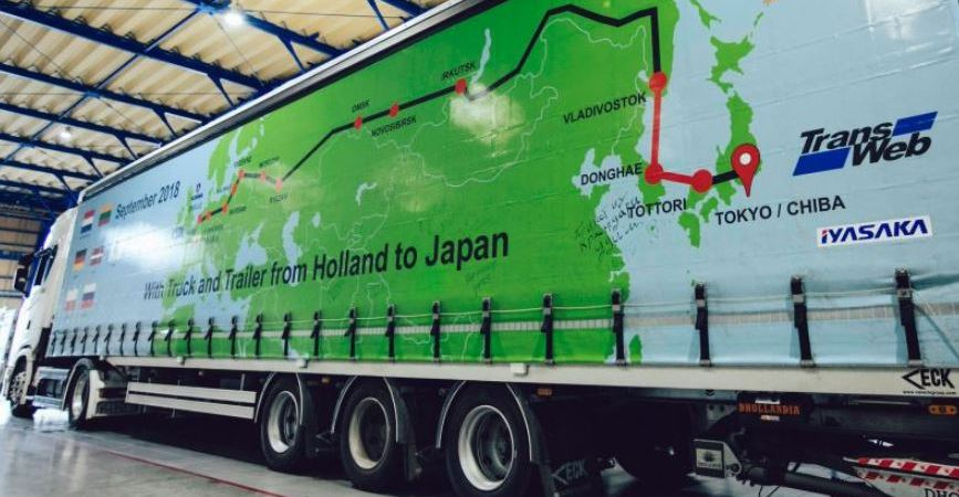 Scania, Países Bajos, Japón, viaje, Eurasia, 13.000 kilómetros, viaje más largo,