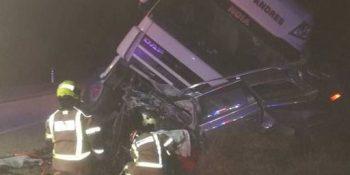 joven, fallece, accidente, colisión, camión, Teruel,
