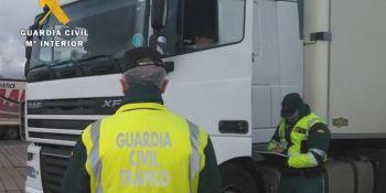 multado, camionero, exceso, horas, conducción, A-62,