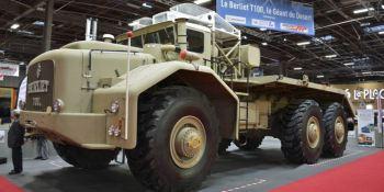 Berliet T-100, camión, grande, mundo, expuesto, Paris