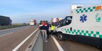 heridos, colisión, múltiple, A-5, Lisboa,
