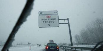 prohibida, circulación, camiones, A-6, A-52, precaución, nieve, nevadas, estado de las carreteras,
