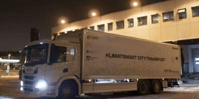 camión, híbrido, Scania, entregas, nocturnas, silenciosas,