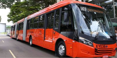 Scania, autobuses, biarticulados, ciudad, brasileña, Curitiba,