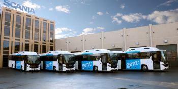 autobuses, escolares, propulsados, gas, Scania,