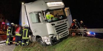 herido, camionero, español, copiloto, intentar, esquivar, gato, carretera,