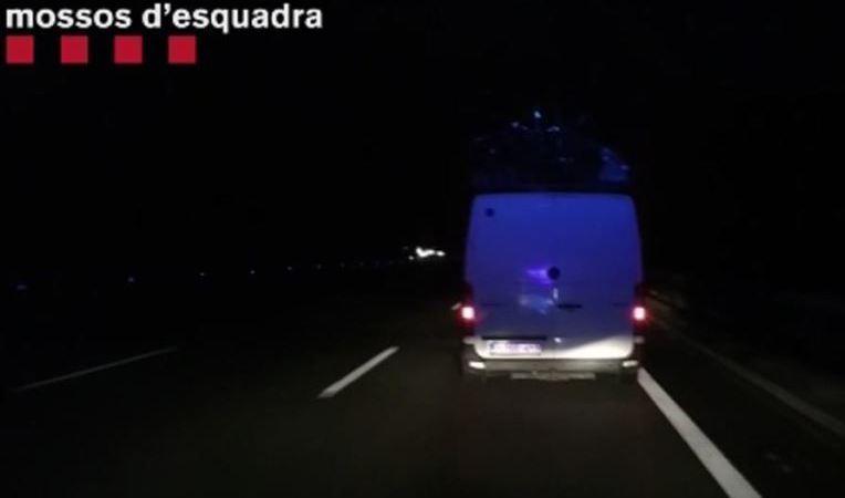 denunciado, conductor, furgoneta, euros, AP-7,