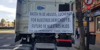 Asotraport, En Ruta Todos a Una, manifestación, Valencia, autónomos, transporte,