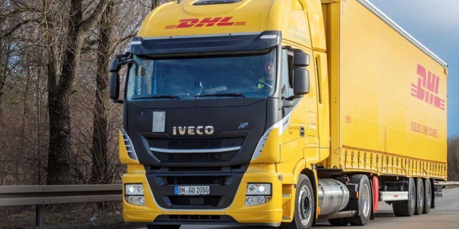 camión, GNL, mega trailer, DHL Freight, Alemania,