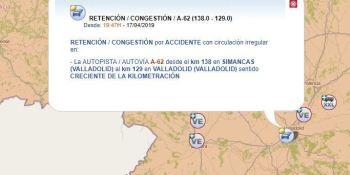 retenciones, A-62, Simancas, AP-1, Briviesca, accidentes,