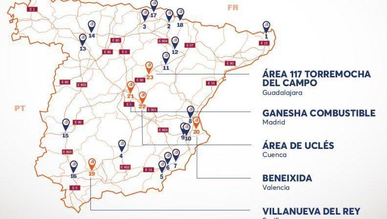 Andamur, red, estaciones, España,