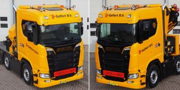 grúa especial compacta Scania,
